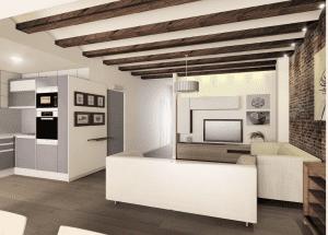 pisos en manresa con bigas en salon 2