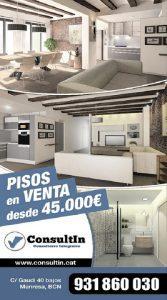 cartel de pisos en Manresa